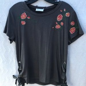 The Room Embroidered Destroyed T-Shirt
